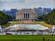 @travelmemories74 - Visitors at the World War II Memorial and Lincoln Memorial - National Mall in Washington, DC