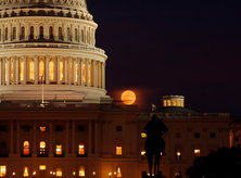 U.S. Capitol - Full Moon - Washington, DC