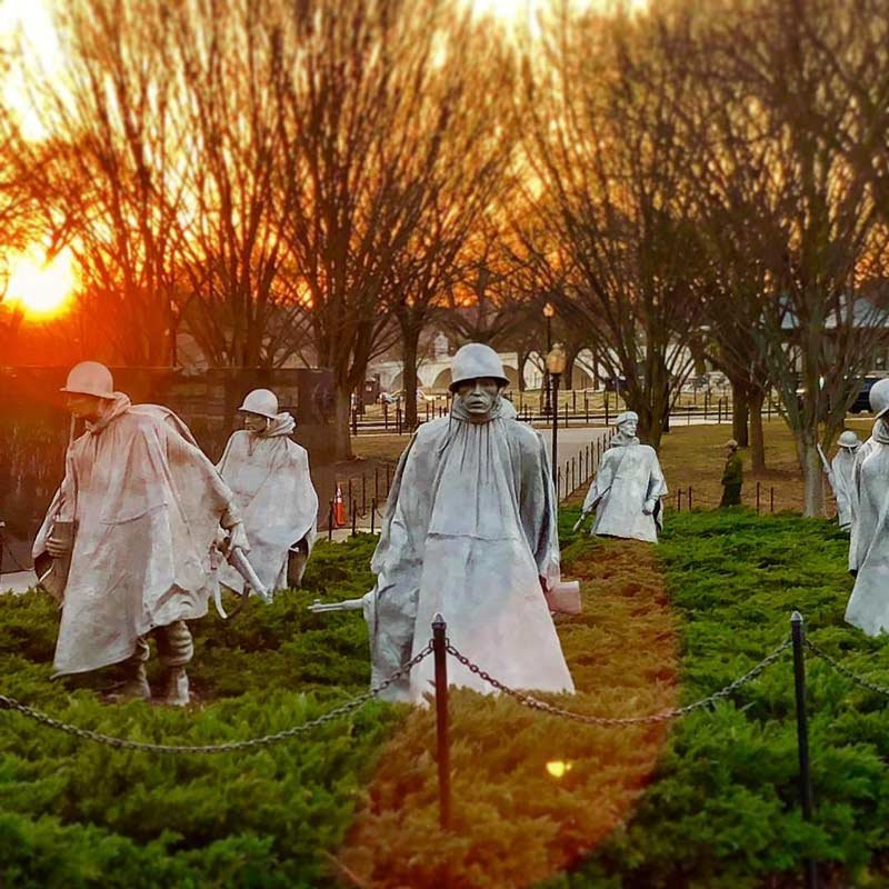 Visiting The Korean War Veterans Memorial In Dc Washington