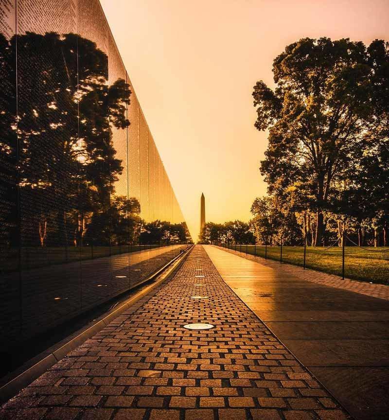Visiting the Vietnam Veterans Memorial in Washington, DC