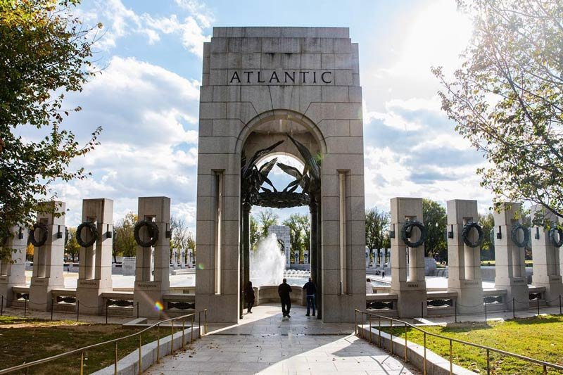Visiting the National World War II Memorial in DC
