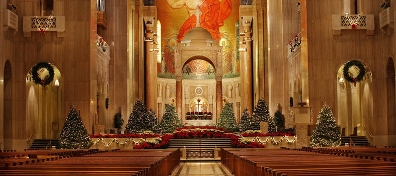 Come see the spectacular decorations at the National Shrine