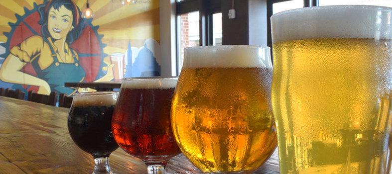 Down a Local Beer at Brookland Pint