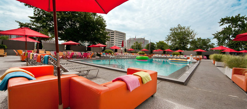Get groovy at the Capitol Skyline Hotel's poolside bar