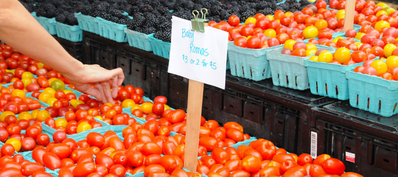 Head to the Saturday farmers' market