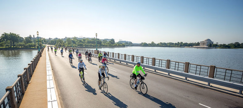 The event is the only closed-road, car-free bike ride in DC.