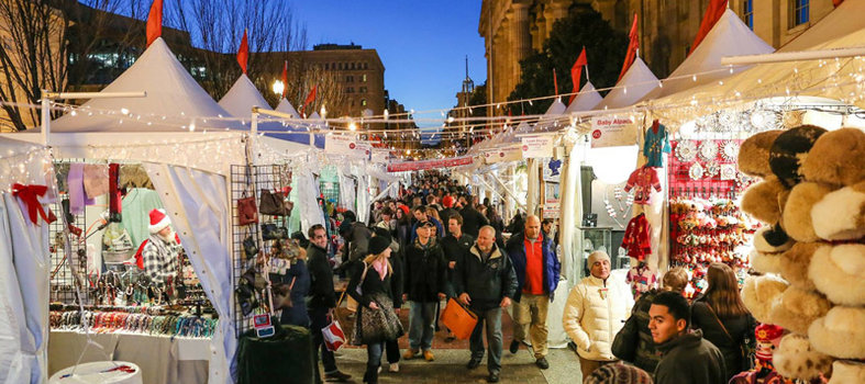 Downtown is buzzing at the Holiday Market