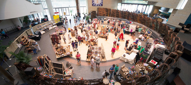 Explore the festival's incredible marketplace