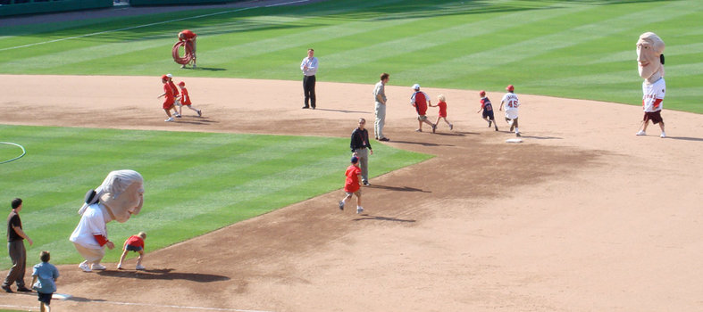 Kids Run the Bases for Free After Sunday Games