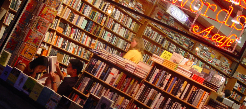 Browse the aisles of popular indie bookstore Kramerbooks & Afterwords