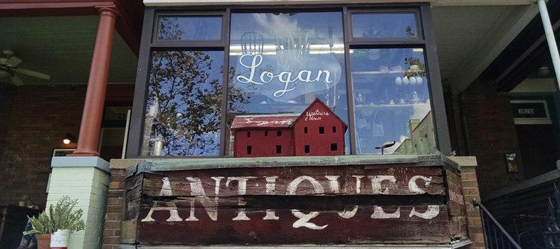 Shop for vintage treasures at Logan's Antiques
