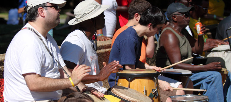 Step into the drum circle at Meridian Hill Park