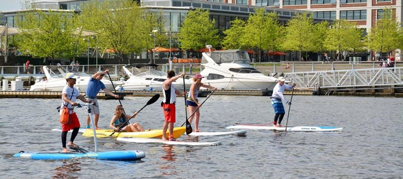 Board on the water with Capital SUP DC