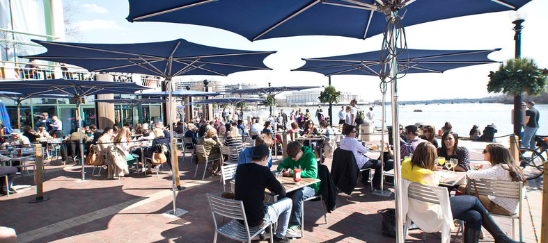 Enjoy a gourmet meal and riverside views at The Washington Harbour