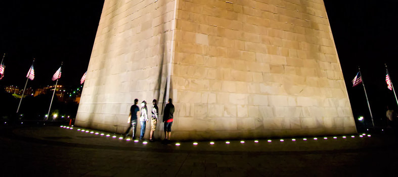 Take a nighttime stroll around the monuments and memorials