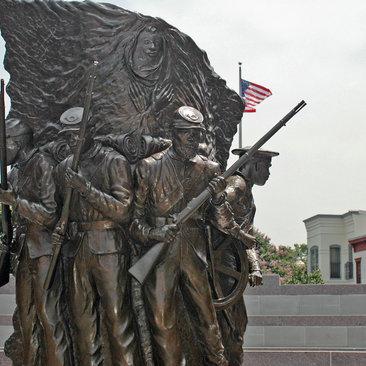 African American civil war memorial statue