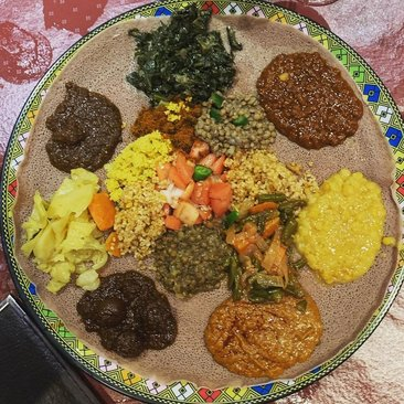 Ethiopian food from Dukem