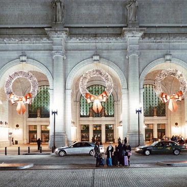 @dccitygirl - Union Station Illuminated During the Holidays - Washington, DC