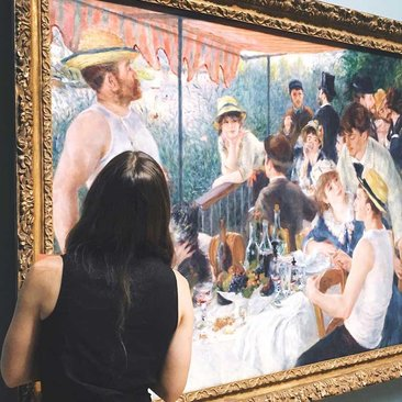@eviienne - Renoir's Luncheon of the Boating Party at The Phillips Collection in Dupont Circle - Art Museum in Washington, DC