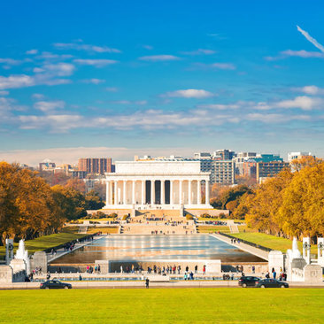 Fall Foliage at the Lincoln Memorial on the National Mall - Monuments in Washington, DC