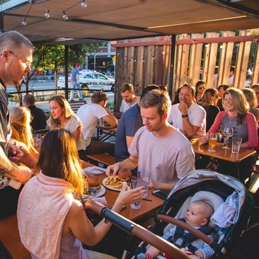 Young family dining at Bluejacket on the Capitol Riverfront - Family friendly restaurants in Washington, DC