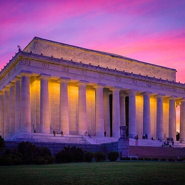 Lincoln Memorial Sunset