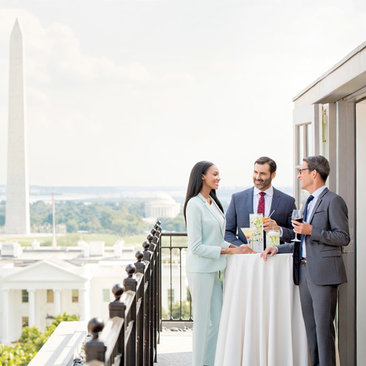 Outdoor meeting at Top of the Hay at The Hay-Adams Hotel - Great outdoor meeting venues in Washington, DC