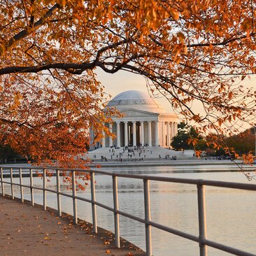 Washington DC Jefferson Memorial in the Fall