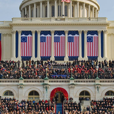 The Inauguration of President Barack H. Obama, 44th president of the United States, on the West Front of the Capitol. January 20, 2009