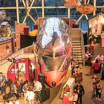 Find out why Washington, DC is a leading destination for meetings and conventions of all sizes - Convention event at the Smithsonian National Air and Space Museum