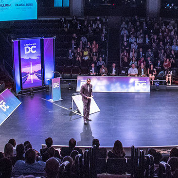 Destination DC Member Events - Elliott L. Ferguson, II Speaking to Crowd at 2017 Marketing Outlook Meeting
