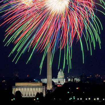 Events in Washington, DC - Fourth of July Fireworks Over the National Mall - Summer Events and Festivals in Washington, DC