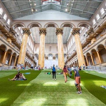 'Lawn' summer museum exhibit in DC - The National Building Museum's Summer Block Party exhibit