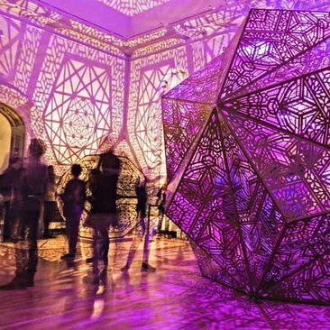 @manishmoghe - Visitors at No Spectators Burning Man exhibit at the Smithsonian Renwick Gallery - Cutting-edge art exhibit in Washington, DC