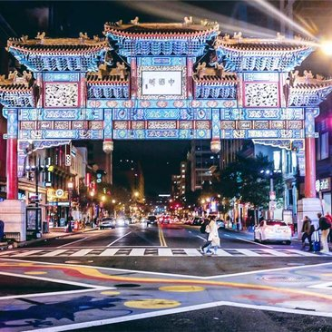 @mill_burray - Chinatown Friendship Archway at night - Landmarks in Washington, DC