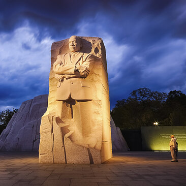 Martin Luther King, Jr. Memorial on the National Mall in Washington, DC