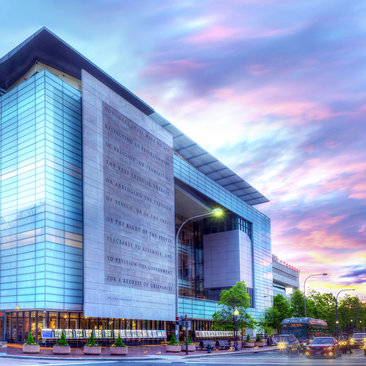 newseum at sunset