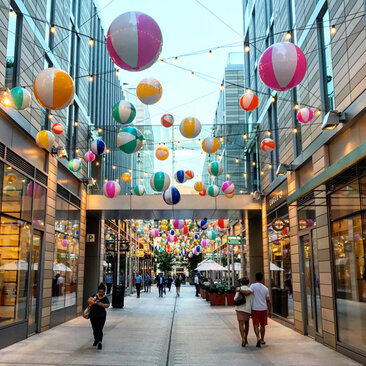 Summer Evening in Palmer Alley at CityCenterDC - Where to Shop and Eat in Downtown Washington, DC