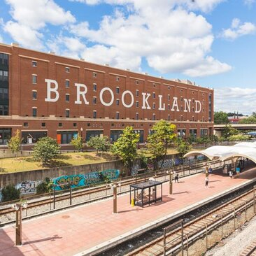 Brookland Metro Station and ArtsWalk - Brookland Neighborhood in Washington, DC