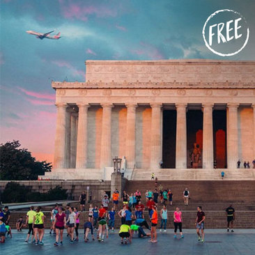 Free Outdoor Activities and Things to Do in Washington, DC - Runners at sunrise on the National Mall
