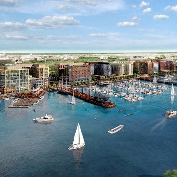 The Wharf Rendering - Southwest Waterfront - Washington, DC