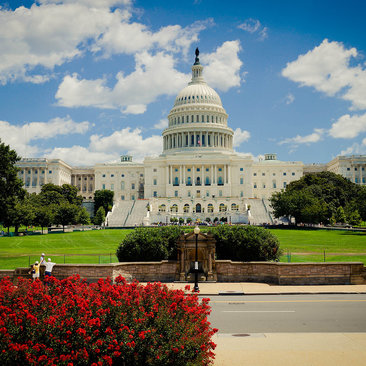 The US Capitol Building on a Clear Summer Day