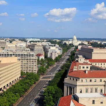 Pennsylvania Avenue aerial photo in Washington, DC