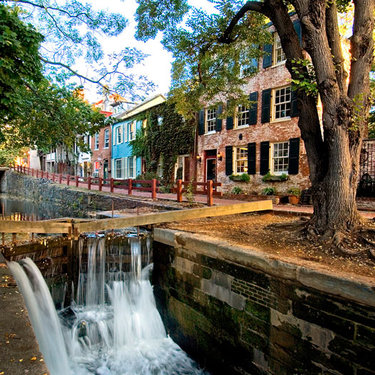 C&O Canal in Fall - Georgetown - Washington, DC