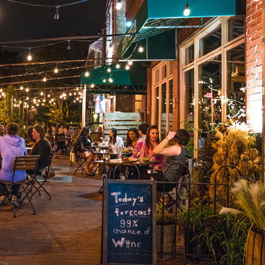 Outdoor Dining at Lupo Verde on 14th Street - Where to Eat in Washington, DC