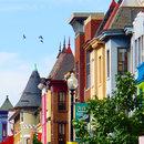 Colorful Storefronts in Adams Morgan Neighborhood