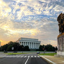 @bradgrock - View of West Face of Lincoln Memorial from Arlington at Sunrise