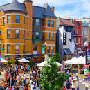 Crowded 18th Street in Adams Morgan on Adams Morgan Day - Events in Washington, DC