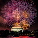 Fireworks over the Lincoln Memorial - Things to Do Independence Day Weekend in Washington, DC