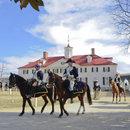 George Washington on horseback at George Washington's Mount Vernon - Historic landmark near Washington, DC